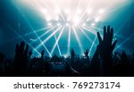 happy people dance in nightclub ... | Shutterstock . vector #769273174
