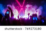 happy people dance in nightclub ... | Shutterstock . vector #769273180