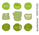 healthy food icons  labels.... | Shutterstock .eps vector #769275250