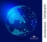 3d illustration of the virtual... | Shutterstock .eps vector #769281694