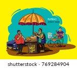mumbai street food vada pav...   Shutterstock .eps vector #769284904