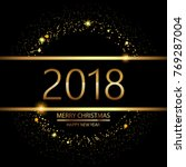 happy new year background with... | Shutterstock .eps vector #769287004