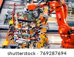 automotive production lines ... | Shutterstock . vector #769287694