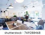 interior of modern cafeteria in ...   Shutterstock . vector #769288468