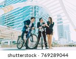 group of young asian business... | Shutterstock . vector #769289044