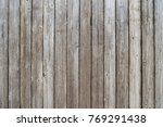Close Up View Of Old Wooden...