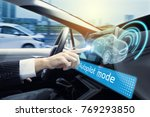 cockpit of autonomous car.... | Shutterstock . vector #769293850