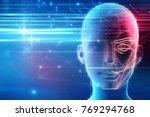 3d illustration of robotic... | Shutterstock . vector #769294768