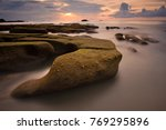 Seascape  Sunset Scenery With...