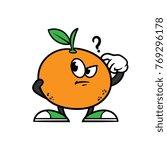 cartoon confused orange... | Shutterstock .eps vector #769296178