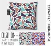 design vector pillow  cushion .... | Shutterstock .eps vector #769296688