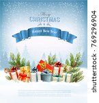 holiday background with a... | Shutterstock .eps vector #769296904