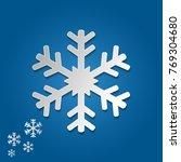 snowflake vector in paper art... | Shutterstock .eps vector #769304680
