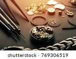 mechanical watch repairing...   Shutterstock . vector #769306519