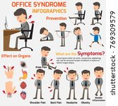business man have office... | Shutterstock .eps vector #769309579