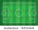 football field or soccer field... | Shutterstock .eps vector #769314646