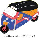 thai tricycle motor   Shutterstock .eps vector #769315174