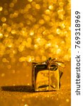 christmas decoration on golden...   Shutterstock . vector #769318969