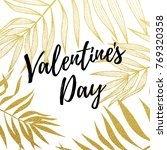 valentine day greeting card... | Shutterstock .eps vector #769320358