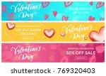 valentine sale banners design... | Shutterstock .eps vector #769320403