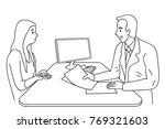 doctor giving health care... | Shutterstock .eps vector #769321603