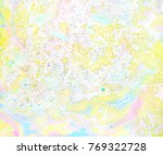 marbling texture in pale yellow ...   Shutterstock . vector #769322728