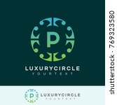 luxury circle initial letter p... | Shutterstock .eps vector #769323580