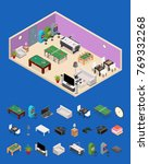 interior game room and parts... | Shutterstock .eps vector #769332268