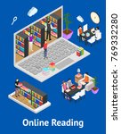 online reading and parts... | Shutterstock .eps vector #769332280