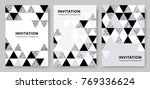 abstract geometric silver... | Shutterstock .eps vector #769336624