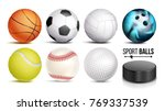 sport balls vector. set of...