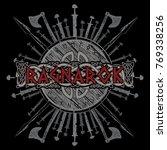 ragnarok viking design. the... | Shutterstock .eps vector #769338256