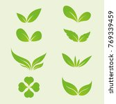 green leaves ecology and... | Shutterstock .eps vector #769339459