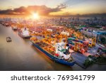 logistics and transportation of ... | Shutterstock . vector #769341799