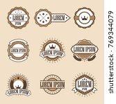 set retro vintage insignias or... | Shutterstock .eps vector #769344079