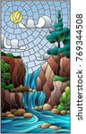 illustration in stained glass... | Shutterstock .eps vector #769344508