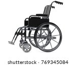 wheelchair isolated on white... | Shutterstock . vector #769345084
