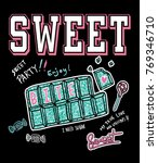 typography slogan with cute... | Shutterstock .eps vector #769346710