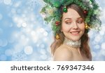 new year's portrait of a...   Shutterstock . vector #769347346