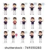 set of stylish businessman...   Shutterstock .eps vector #769350283