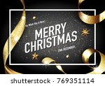 merry christmas and happy new... | Shutterstock .eps vector #769351114
