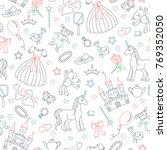 seamless pattern on the theme...   Shutterstock .eps vector #769352050