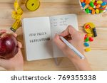 new year resolutions concept | Shutterstock . vector #769355338
