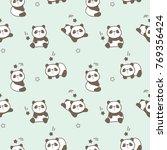 seamless pattern of cute... | Shutterstock .eps vector #769356424