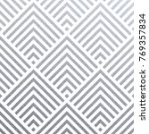 abstract geometric silver... | Shutterstock .eps vector #769357834