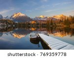panorama of a mountain lake in...   Shutterstock . vector #769359778