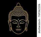 gold buddha head | Shutterstock .eps vector #769362106