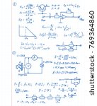 physics  electronic engineering ... | Shutterstock .eps vector #769364860