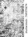 grunge black and white pattern. ... | Shutterstock . vector #769370674