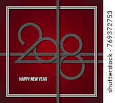 happy new year background with... | Shutterstock .eps vector #769372753